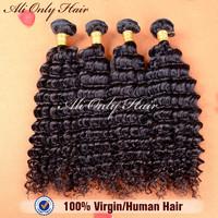 "Unprocessed Malaysian Virgin Hair Deep Curly 4Pcs Lot,High Quality Malaysian Curly Virgin Hair 8""-30""Human Hair Extension No Mix"