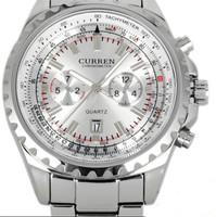 new top fasion hardlex stainless steel analog 2014 watch curren men quartz brand wristwatch male clock complete calendar