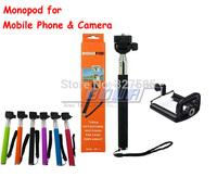Original DHL 30sets (30pcs monopod +30pcs clip holder)Selfie Stick Rotary Extendable Handheld Camera Tripod Mobile phone Monopod