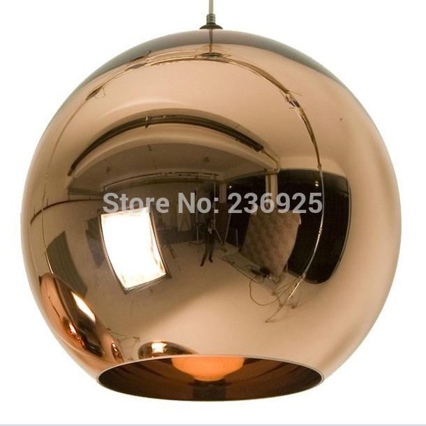Trepanning Modern Classic Fashion Tom Dixon Glass Copper Mirror Shade Ball Lamp Pendant Light Fixtures Dining Room Bedroom XX45(China (Mainland))