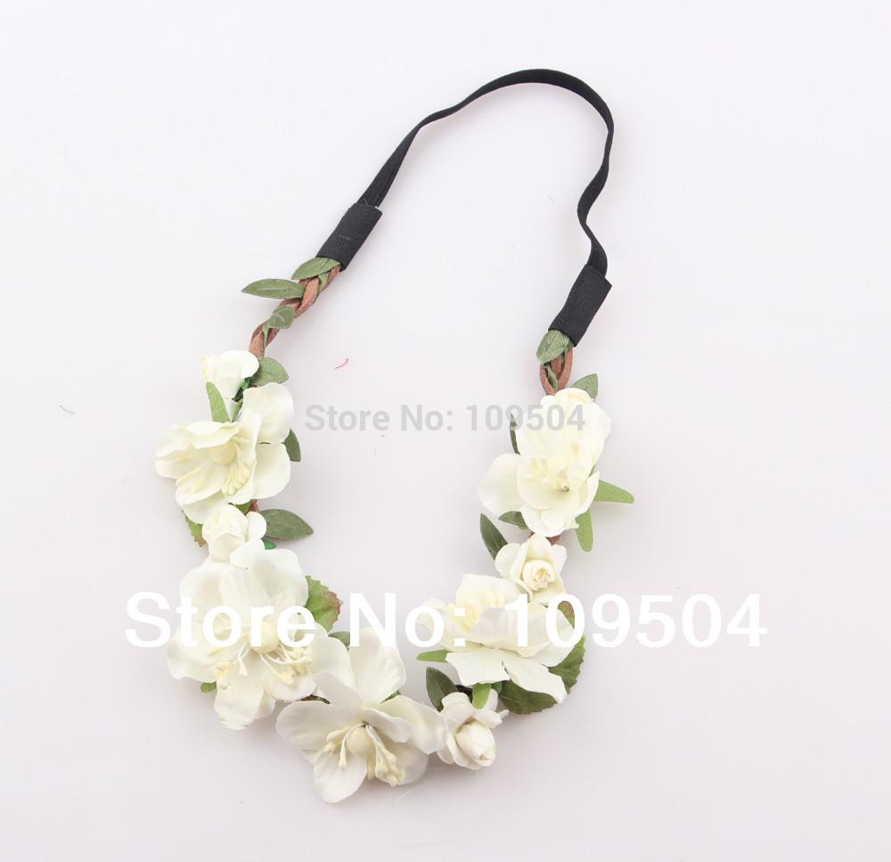 NEW Bride Bohemian Flower Headband Festival Wedding Floral Garland Hair Band Headwear Hair Accessories for Women(China (Mainland))