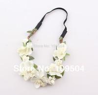 NEW Bride Bohemian Flower Headband Festival Wedding Floral Garland Hair Band Headwear Hair Accessories for Women ZH21