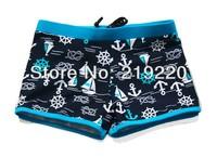 Free Shipping navy colors Children kids baby boys swimming trunks fashion ocean style children boys swimsuit swimwear set trunks
