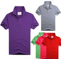DIY Advertising T-shirt For Man/Woman Turn-down Collar Men's Clothing Tees & Tops T Shirt Man  2014 New Fashion Free Shipping