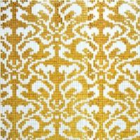 Customed parquet mosaics glass tile gold pattern backsplash kitchen bathroom wall decorative puzzled wallpaper tub area tile