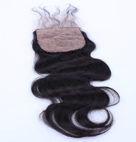 Top Silk Based Closure Queen Hair Products Free Part Top Lace Closures Body Wave 4*4 6A Grade With Bleached Knots