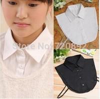 2014 new hot fashion women black white  cotton false shirt collar detachable collarfactory price free shipping