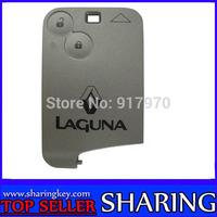 Free shipping (10 pcs/lot )Renault Laguna  Smart Card 2 Button Remote  Case