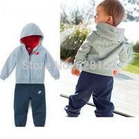 2014 summer autumn Baby Boy TOP Brand clothing set children hoodies kids clothes sets jackets+pants conjunto de roupa