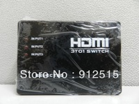 Free Shipping 3 Port Mini 1080p HDMI Switch Switcher HDMI Splitter Box for PS3 HDTV DVD with Remote