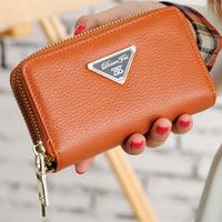 2015 fashion genuine leather purse women small coin purse ladies mini clutch bag women wallets designer carteira feminina