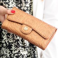 2015 genuine leather wallet long designer women wallets brand lady purse clutch evening bag carteira feminina