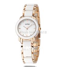 Brand KIMIO Watch women bracelet watch Women Dress Watches Colored ceramic bracelet casual Wristwatches WWFA455(China (Mainland))