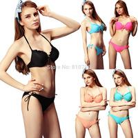 Free Shipping 1set Women's  Padded Push Up Bikini Sets Swimwear Swimsuit Triangle
