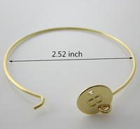 1 PC Personalized Bracelet, Custom Initial Adjustable Bangle Bracelet, Gold Monogram Jewelry, Initial Jewelry, monogrammed gifts
