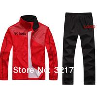 FREE SHIPPING,2014 brand  men sports clothing training suit 2pcs set,jacket with pant track suit set