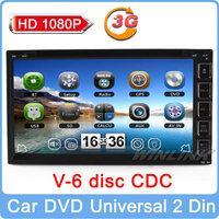 2014 Universal Car Pc 2 Din Dvd Player Gps Navigation Multimedia Stereo Audio Support 3G Wifi Stereo Radio Virtual Cd 6-Dics