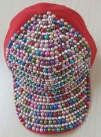 New 2014 spring Fashion Hip-hop Punk Snapback cap colorful diamond Men Women's Velcro Closure  Baseball  cap