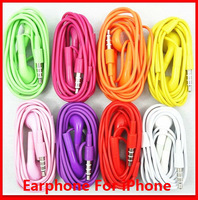2pcs High Quality 3.5mm in-ear headphones headsets earphones for IPHONE 3 4 4s 5 5s with Mic for ipad mini mp3 mp4 colorful hot