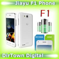Russian support  Original JIAYU F1 Moblie Phone 4.0 inch MTK6572 Dual Core 512MB RAM 4GB ROM 5MP 800*480 TFT 2400mAh
