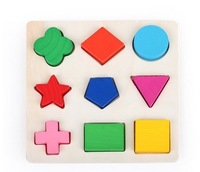 1 set original Educational high quality  Colorful block  developmental  wood  baby  toys  Wooden toy  for children