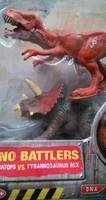 Original famous brand Jurassic Park tyrannosaurus rex+velociraptor toy dinosaurs toys for boys children 2pcs/set doll with box