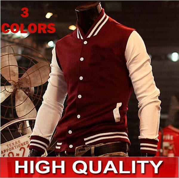 2015 Hot Men's Jacket Baseball Fashion Jackets,Basketball Jackets 3 Color: Black,Red,Navy Free Shipping 4 Size:M-XXXL NY(China (Mainland))