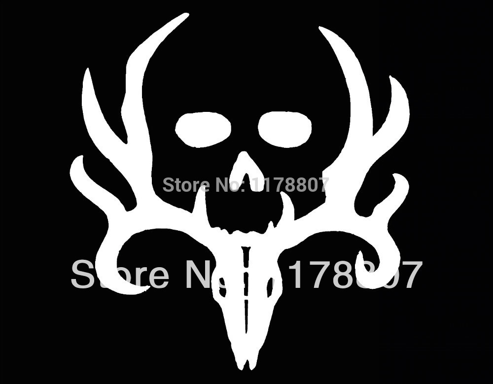 Wholesale Bone Collector Deer Hunting Gun Truck SUV Vinyl Window Decal Sticker(China (Mainland))
