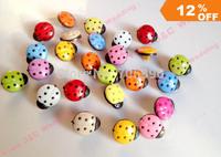Free Shipping 100 pcs resin ladybug Button Sewing Craft Scrapbook Garment DIY