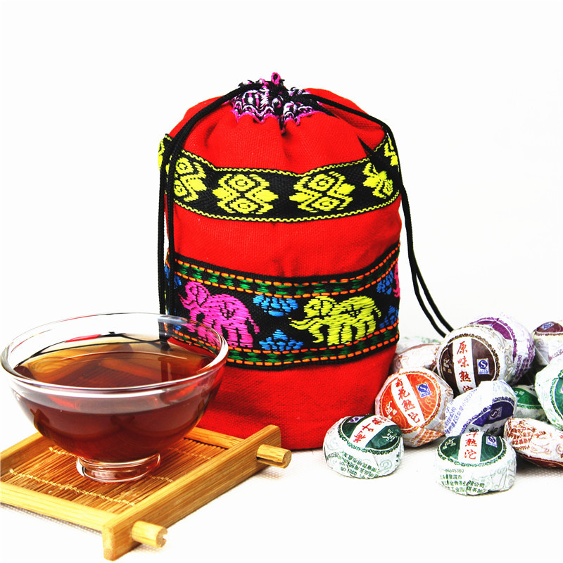 30pcs different Kinds flavors Chinese yunnan puer tea puer ripe pu er tea bag gift the