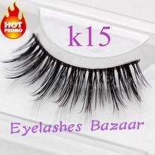 Free Shipping super soft and natural 3pcs/lot k15 wholesale Canadian mink eyelash extensions mink strip eyelashes(China (Mainland))