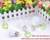 Promotion  High brightness  LED Bulb Lamp E27 E14 B22 2835SMD 3W 5W 7W 9W   AC220V 230 240V Cold white/warm white Free shipping