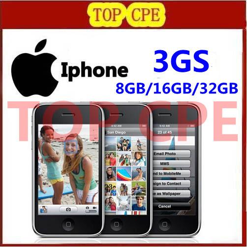 in scatola sigillata apple iphone 3gs originale fabbrica sbloccato telefono cellulare libero dono gratuito di spedizione 1 anno di garanzia