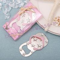 Free Shipping 100box Pink Flip Flop Bottle Opener wedding bomboniere WJ058/B