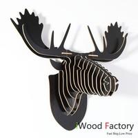 iWood  Rein Deer Wall Hangings Euro Style Home Decor Diy Wall Sculptures B Line