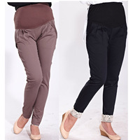 Plus Size XXL Pregnant Women Pants 2014 Spring Maternity Clothing Outerwear Long Trousers Gravida Belly Pant Motherhood Clothes