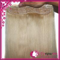 Forawme Hair 100g pcs clip in hair extensions #1 jet black #1b natural black  #2 #4 brown brazilian human straight hair clip-in