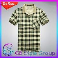 JEP men summer 2014 new short sleeve cotton Plaid casual t shirt shirts Big large plus size  for men man 6 color XXXL Wholesale