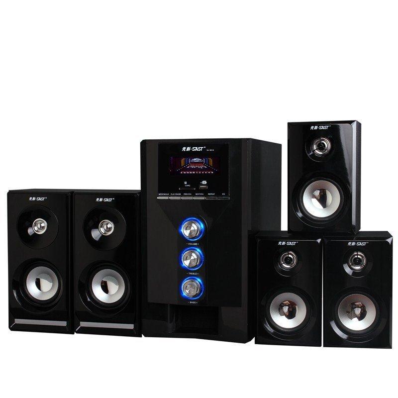 Consumer Electronics 2015 new hot Xianke speaker combination encoding 5 1 audio multimedia subwoofer desktop wood