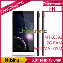 "Original Nibiru H1 Mars H1 Multi-language MTK6592H Octa-core 1.7G Android 4.2 Dual-SIM 5.0""FHD IPS 13.0MP 1080P 2G RAM+16GB ROM(China (Mainland))"