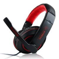 2014 New GK-K9 NdFeB Hi Fi Speakers Surround Gaming Headset Stereo Headphone With Micphone For Computer Gamer B2# SV000511