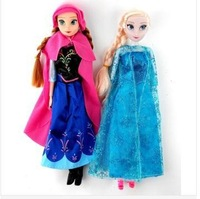 2014 hot sell frozen doll 2pcs/lot frozen doll anna and elsa dolls new inplastic bag for children
