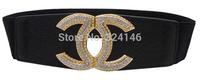 Black Elasticity width belts elegance crystal Ms. luxury girdle,women belt wholesale,Free shipping