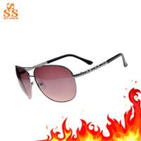 High Grade Brand Women Aviator Sunglasses,Elegant Men Lunettes De Soleil,Full Frame Hard Resin Lens Metal Gafas + Box G178-1