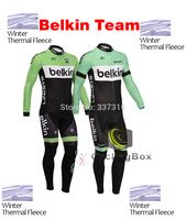Ropa Ciclismo 2014 Belkin Winter Thermal Fleece Cycling Jersey and bicicletas bib Pants Bike clothing Sportswear Hot!!