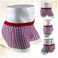 NEW underwear men Scottish style plaid men underwear 100%cotton Breathable boxers shorts soft comfortable underwear shorts men