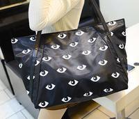 Bags 2014 Fashion Printed Eyes shoulder bag oxford big bag for woman woman's casual handbags