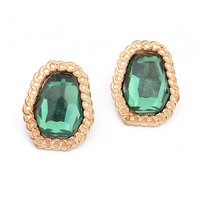 Trendy women earings brincos european and american fashion earrings exquisite colorful Bright emerald green color
