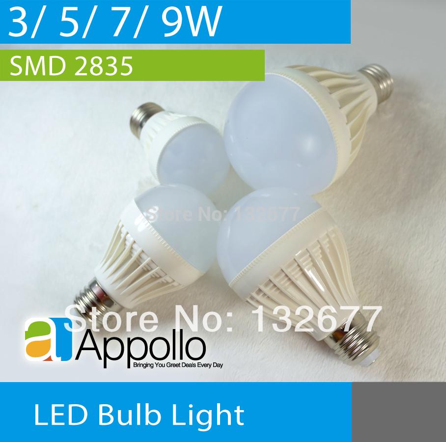 Luminosité led ball ampoule e27 b22 base 3w 5w 7w 9w smd. 2835 puce. ac110v 220v lampes spot warm cool white livraison gratuite