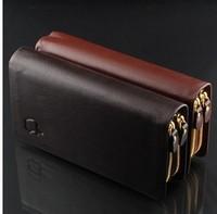 fashion standard freeshipping feminina carteira masculina zipper men standard  new purse solid rushed pu 2014 leather wallet